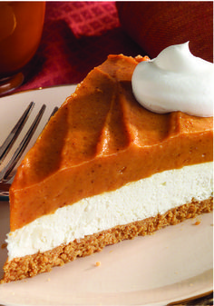 Creamy Two-Layer Pumpkin Pie – Super cool. Super whipped. The secret to this layered take on pumpkin pie is the creamy yet airy combo of cream cheese and COOL WHIP Whipped Topping. Wow Thanksgiving guests by serving this for dessert!