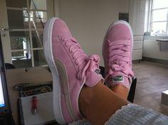 Pink PUMA Suedes