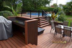 Patio Plus - Patio piscine Pergola Patio, Diy Patio, Backyard Patio, Pergola Ideas, Porch Ideas, Patio Ideas, Ikea Patio Furniture, Outdoor Furniture Sets, Outdoor Decor