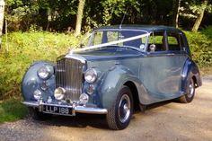 Our wedding car! 1950s blue Bentley
