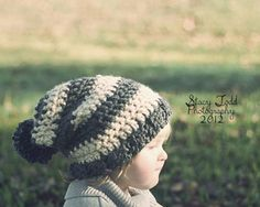 Slouchy Beanie Childrens size by HookedOnTheHook on Etsy, $10.00  Ready to ship!