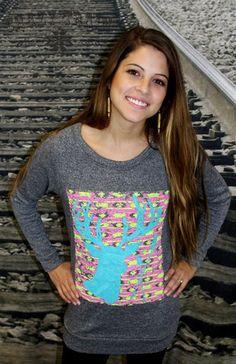 Buckin Cute Neon Aztec Camo Pullover – Texas Two Boutique