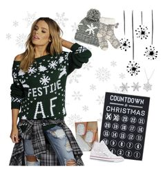 25 Days of Christmas Sweaters: Day 3 by alyssa011 on Polyvore featuring polyvore fashion style Boohoo Converse Van Cleef & Arpels Primitives By Kathy Lipsy clothing