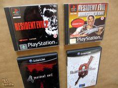 Resident Evil Nintendo & Playstation Bundle Resident Evil 2 (PS1) Resident Evil Directors Cut (PS1) Resident Evil 4 (GameCube) Resident Evil Zero (GameCube)