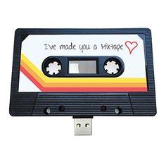 16GB USB Mixtape Retro Quirky Gift Cool Cute Love Present Boyfriend Girlfriend Office Novelty Birthday Wedding Anniversary Valentines