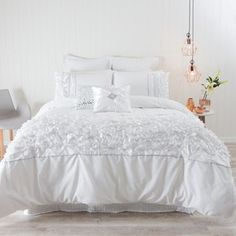 Fifi White Five-Piece Quilt Cover Pack Quilt Cover Sets, Quilt Sets, Bedroom Ideas, Bedroom Decor, Pillow Talk, Ideal Home, Designs To Draw, Classic Style, Comforters