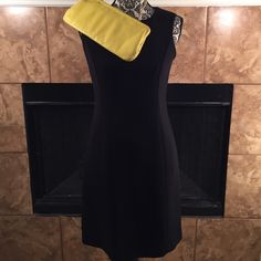 "LITTLE BLACK DRESS LBD by Casual Corner. Length 36"". Waist 27"". Acetate and polyester. Fully lined. Very limited stretch. Casual Corner Dresses Midi"