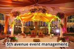 A classically inspired look for your special day celebrations, which makes you to feel pleasant.  This awesome golden colored stage decoration is beautifully designed by us to make your special day more special to you and to your loved ones. Click here for more details : http://www.5thavenueeventmanagement.com/Weddingallery.aspx