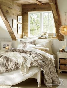 Inside a dormer window. Found this in the Fall 2012 Pottery Barn catalog.