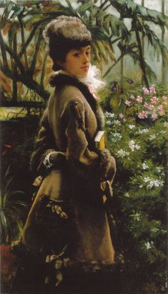 In the greenhouse - James Tissot