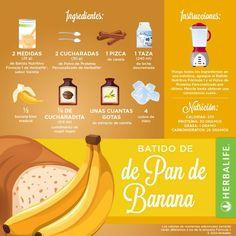 delicioso Batido con Bananas!!!! #productos Herbalife