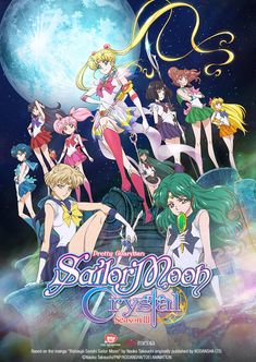 Sailor Moon Crystal, all the Sailor Senshi