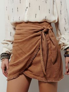 Sydnie Wrap Skirt | Made from our sheer and gauzy Endless Summer fabric, this wrap skirt features a waist tie and frayed hem detailing. Throw on top…
