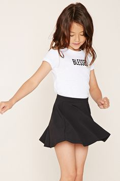 Forever 21 Girls - A stretch-knit skirt featuring a skater silhouette.