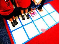 More movement related math games that we use in school. Children who learn visually and through movement benefit from this activity.