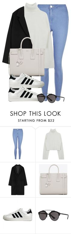 """Untitled #11956"" by vany-alvarado ❤ liked on Polyvore featuring New Look, Yves Saint Laurent, adidas Originals and Christian Dior"