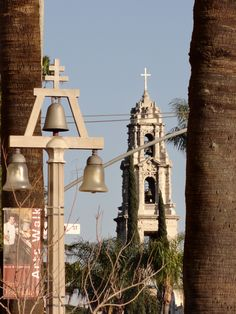 Riverside Bell and the Mission Inn in background. Riverside, California