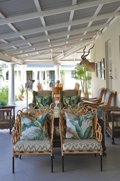 Enjoy five-star Free State hospitality at the Royal Fischer Hotel in Bloemfontein, South Africa – as seen in House and Leisure Screened Porch Designs, Screened In Porch, Outdoor Spaces, Outdoor Living, Outdoor Decor, Pergolas For Sale, Small Porches, Building A Porch, Quirky Decor