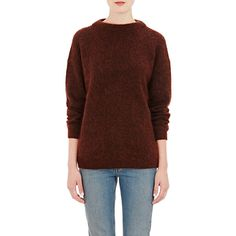 Acne Studios Brushed Mohair-Blend Sweater ($330) ❤ liked on Polyvore