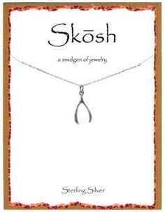 Engravables - Silver Wishbone Necklace by Skosh, $32.99 (http://www.engravablesonline.com/silver-wishbone-necklace-by-skosh/)