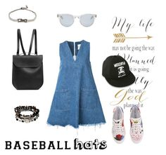 """forever baseball cap"" by nankyubi ❤ liked on Polyvore featuring Sandy Liang, Marc Jacobs, Moschino, GRETCHEN, Kenneth Cole, Sun Buddies, Lanvin, baseballcap and baseballhats"