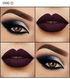 Sultry eye makeup, dark lip #fallmakeup #smokey #sultry