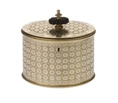 Silver-gilt tea caddy with flat hinged cover and beaded edges, engraved with crosses and cinquefoils as heraldic devices of William Beckford of Fonthill Abbey: English, London, by Michael Plummer, 1796 - 1797