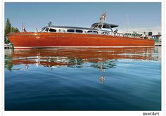 The Thunderbird is a 55 foot express speedboat designed by John Hacker and built by Huckins in 1939