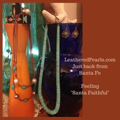 I tried to confine myself to using only pearls and leather but my creative spirit rebelled.  See the creations at Leathered Pearls: http://www.leatheredpearls.com/