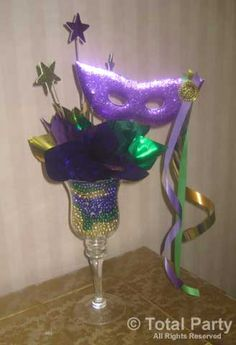 mardi gras centerpieces | NJ Party Decorations - Event Centerpieces for Weddings & Bar/Bat ...