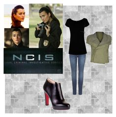 ncis by cristina1207 on Polyvore featuring Warehouse, Rick Owens, 7 For All Mankind, Christian Louboutin, Co|te and Ziva
