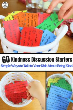 60 Kindness Discussion Starters - Coffee and Carpool: Intentionally Raising Kind Kids Social Emotional Learning, Social Skills, Kindness Activities, Activities For Kids, Kindness Projects, Parenting Hacks, Kindergarten, Classroom, Infants