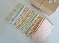 Hand-made Paper, Boxed, Hand Torn Recycled Paper, 100 sheets. Stocking Filler