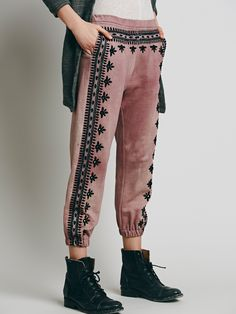 at free people Three Wishes Sweatpants - cranberry