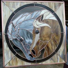 Two Horses in Stained Glass