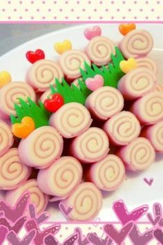 How to make ham & cheese spirals (Japanese tutorial with pictures) Eat Lunch, Bento Box Lunch, Kawaii Cooking, Bento Recipes, Bento Ideas, Pink Foods, Kids Menu, Food Decoration, Aesthetic Food