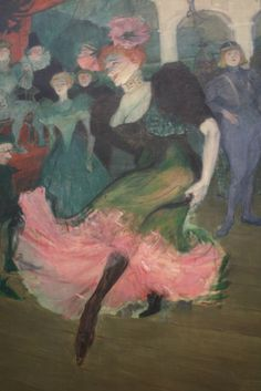 """Marcell Lender Dancing the Bollero in """"Chilperic"""", oil on canvas, 1895/1896, Henri de Toulouse-Lautrec, (French, a864-1908), National Gallery of Art, Washington DC, 2012."""