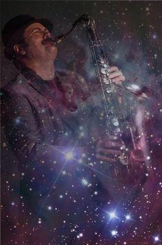 Ron Swanson Galaxy Saxaphone