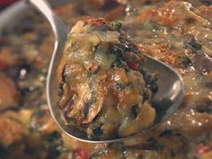 Savory Bread Pudding with Spinach & Mushrooms  | KitchenDaily.com