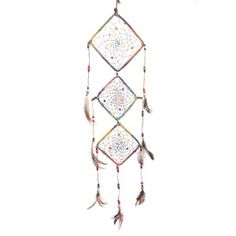 DREAMCATCHER A704DC  Dream Catcher A704DC catches terrifying dreams and enhances the beauty of your room. It is made of light iron, cotton nets, beads, and feathers. It has all the things that a dream catcher should have. The cotton nets are durable, and so are the beads. The feathers are well - tied to the braided cotton strings. Dream Catcher A704DC is inexpensive and handmade.    Unit Price: US$5.60    Pack Price: US$33.60