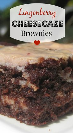 What do you do with some extra lingonberry jam- or any extra jam, for that matter? Why, make fruity cheesecake brownies, of course! With alternating layers of brownie and cheesecake, this recipe is sure to please. Try it today! Fun Desserts, Delicious Desserts, Dessert Recipes, Yummy Food, Lingonberry Recipes, Brownie Recipes, Chocolate Recipes, Deserts, Desert Recipes