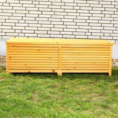 XXL HOLZ Auflagenbox Gartentruhe Kissenbox 140 cm