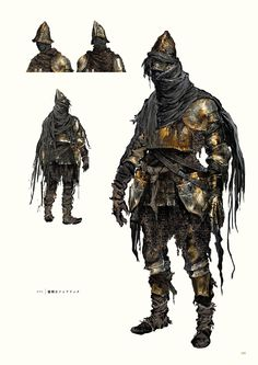 View an image titled 'Sunset Armor Set Art' in our Dark Souls III art gallery featuring official character designs, concept art, and promo pictures. Dark Souls 2, Dark Souls Armor Sets, Dark Souls Art Book, Fantasy Armor, Dark Fantasy Art, Fantasy Character Design, Character Art, Character Concept, Dark Souls Characters