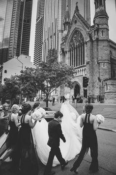 Wedding photo inspo  Read More: http://www.stylemepretty.com/australia-weddings/2014/09/23/a-black-and-white-wedding-at-the-greek-club/