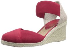 Lauren Ralph Lauren Womens Charla Wedge SandalRed6 B US -- This is an Amazon Affiliate link. Want to know more, click on the image.