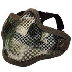 Gittermaske klein mit camo Muster Mund und Nasenschutz   #shootclub #airsoft #softair