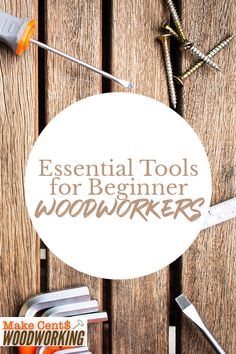 Here's a list of the most essential and basic tools needed for beginner woodworkers. Wood Projects That Sell, Woodworking Projects That Sell, Diy Wood Projects, Woodworking Ideas, Woodworking Shop, Wood Crafts, Diy And Crafts, Basic Tools, Wood Working For Beginners