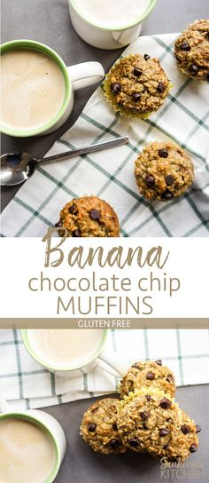 GF/DF/SF/EF Oatmeal Banana Chocolate Chip Muffins / These delicious gluten free banana muffins are a healthy and energizing snack. Egg Free Recipes, Best Gluten Free Recipes, Allergy Free Recipes, Good Healthy Recipes, Healthy Kids, Muffin Recipes, Healthy Oatmeal Breakfast, Healthy Muffins, Recipe Maker