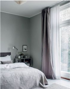 Attirant White Bedroom Curtains, White Sheer Curtains, Grey Bedrooms, Grey Linen  Curtains, Apartment