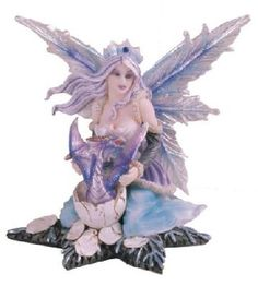 Fairy Collection Pixie With Hatching Dragon Figurine